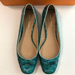 "Kate Spade ""Dee"" turquoise ballet flats"